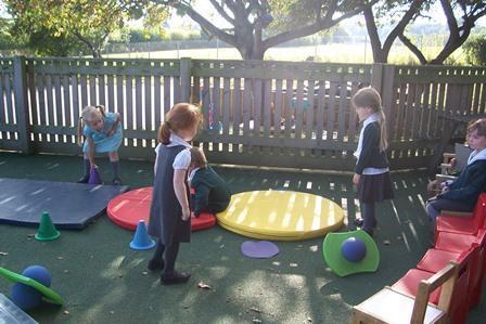 Having fun learning in Ocelot's outside area