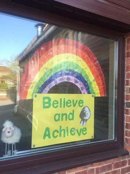St James' has a beautiful rainbow too!