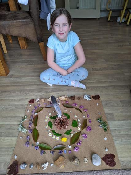 IC (Ocelot) with her Andy Goldsworthy artwork