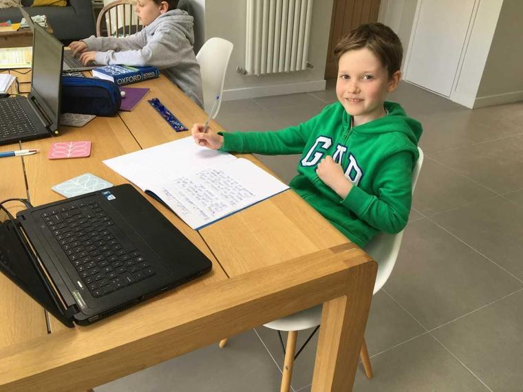 SW (Snow Leopard) is busy with his schoolwork