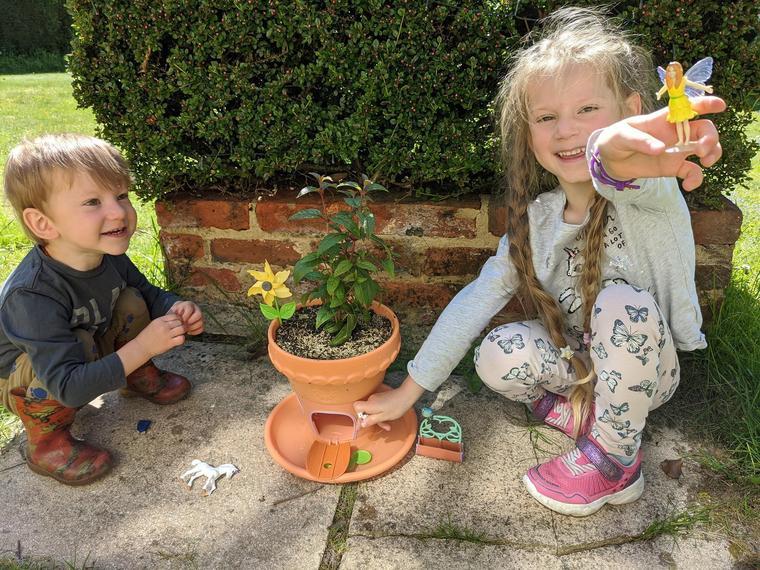 AC (Ocelot) with her fairy fuschia plant