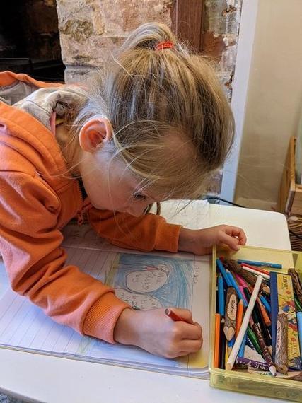 AC (Ocelot) writing Jack & the Beanstalk learning