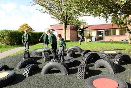 Tyre park, for any weather playtimes