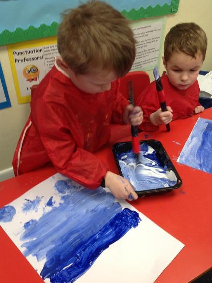 Learning about how to make different colours