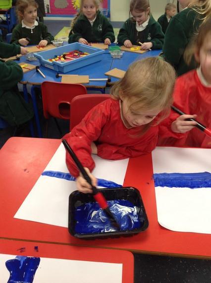 Ocelot Class having fun with paint