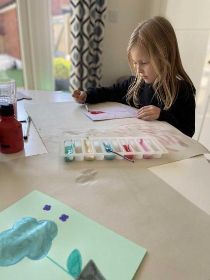 TC (Puma) enjoying her art