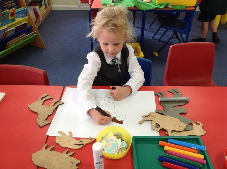 Ocelot Class doing fabulous artwork