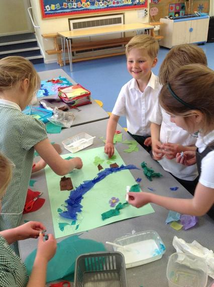 They were using art to depict the Creation Story