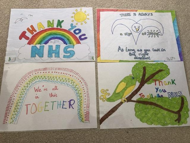 LB (Snow Leopard) with some brilliant NHS posters