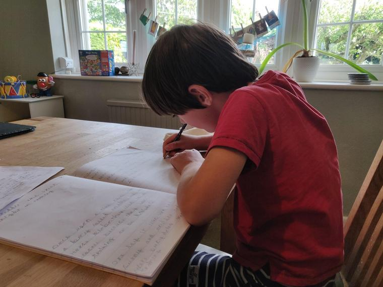 FG (Ocelot) concentrating on writing his story