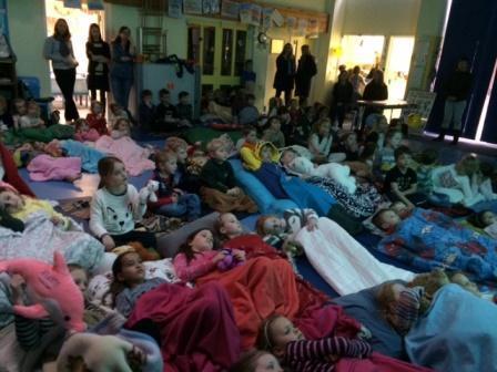 Film club enjoying the Minions movie!