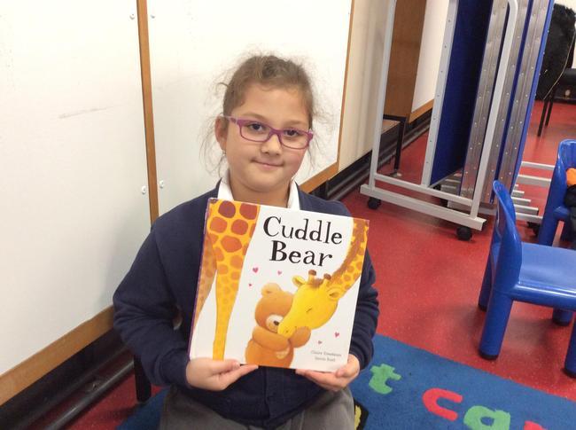 Enjoying choosing our own books to borrow