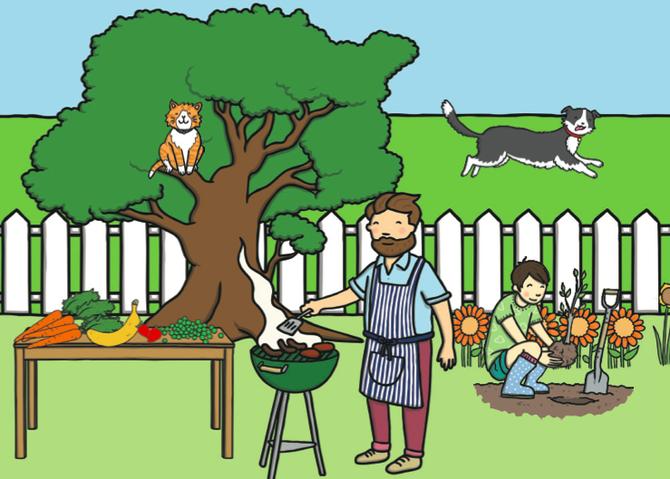 A BBQ scene