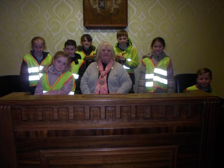 The School Council meet the Mayor