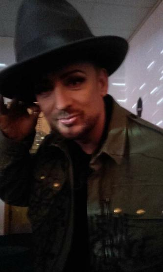 Boy George at The Voice after party.