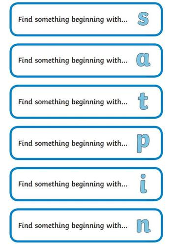 Draw the objects in your phonics book and write the beginning sound.