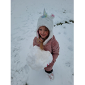 This is how Unicorn's play in the snow!