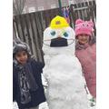 Bob the Covid secure snowman!