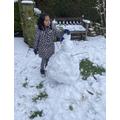 A little snow hat for our little snowman!