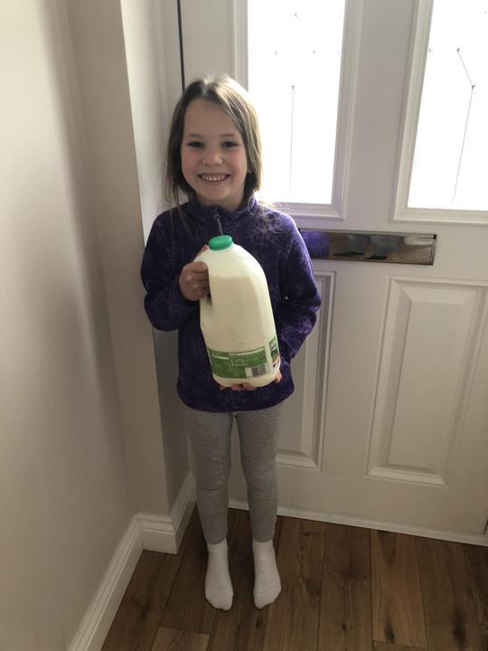 Milk for a paramedic neighbour.