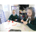 Year 6 work on coral