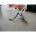 We used pipe cleaners to form our coral shapes