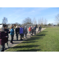 Year 5 viewing from a safe distance.