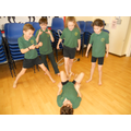 Year 5 'explorers' dance lesson