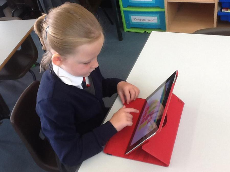 Playing phonic games on the IPad,