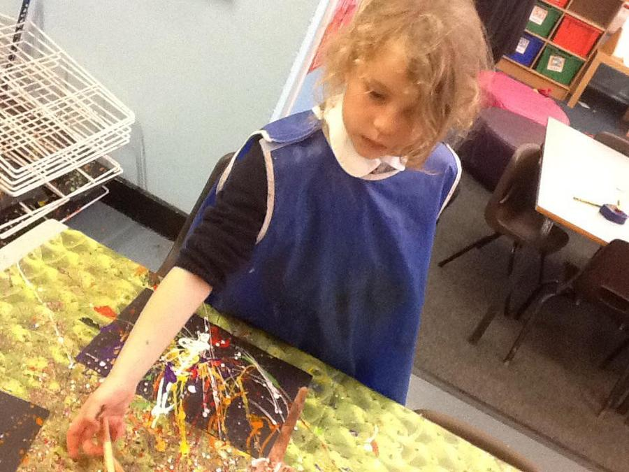Making firework pictures.