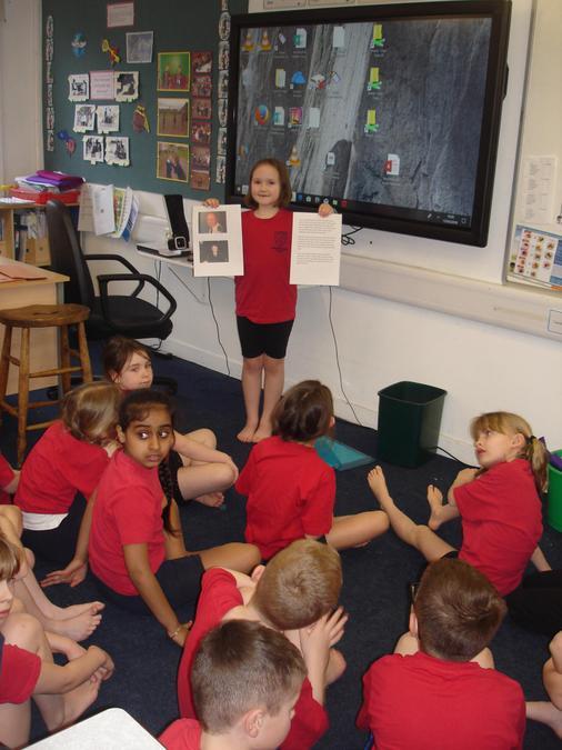She showed us photos of her Grandad.