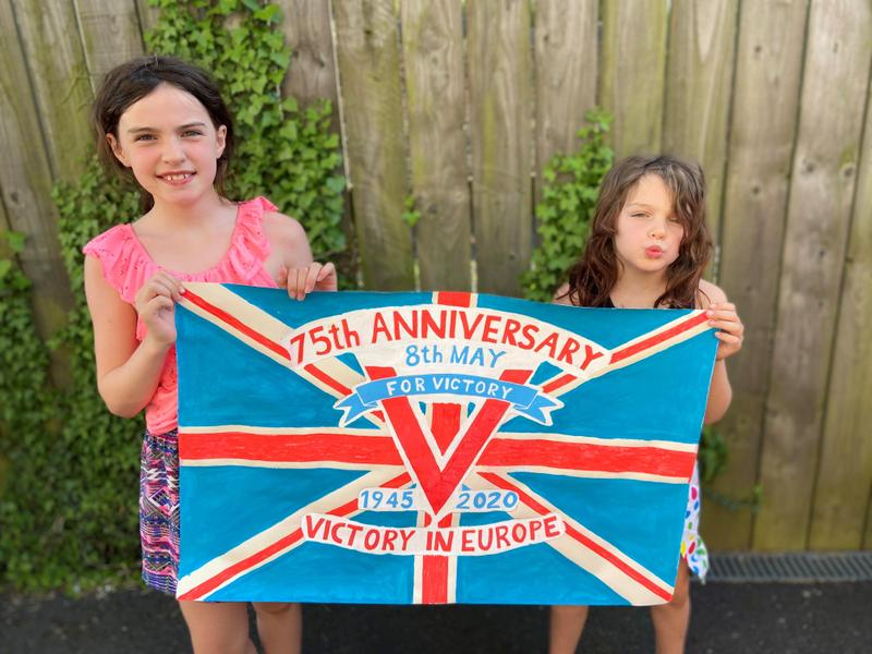 This is a super VE day poster Charlotte and Hannah