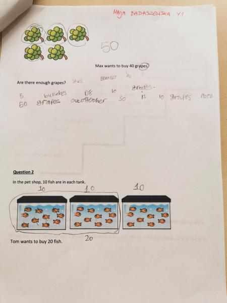 Maja has been working hard at her maths reasoning.