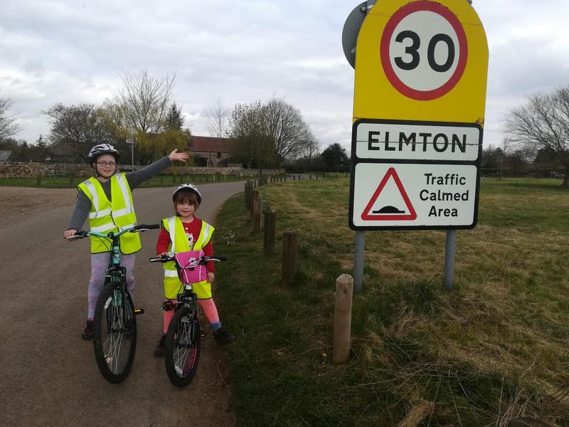 Erin has been riding her bike.