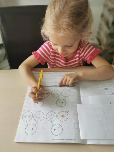 Maja has been working hard on maths...
