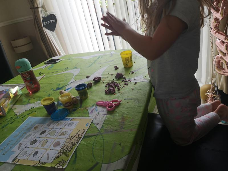 Moulding Shells with Play Doh