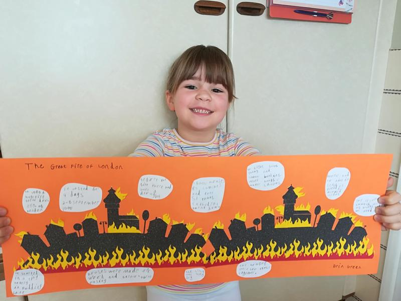 Erin's amazing Great Fire of London work.