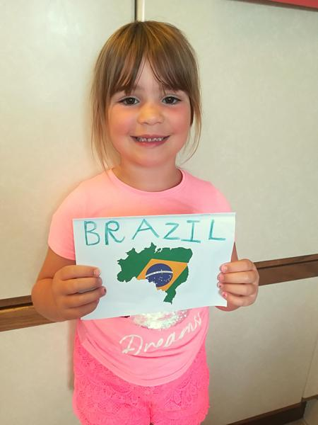 Erin has been working hard on her Brazil work.