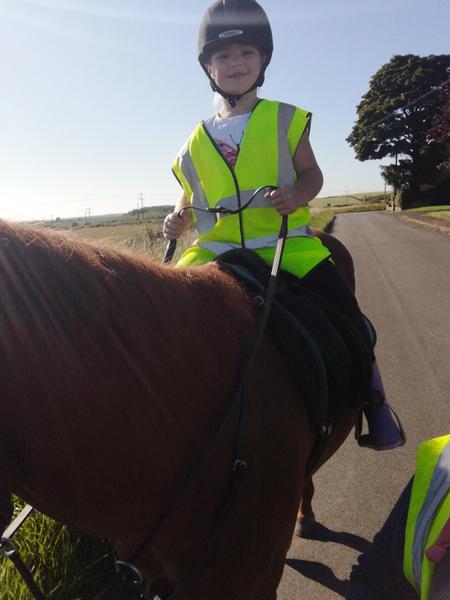 Erin went horse riding