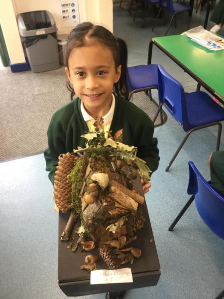 Sophia made an amazing fairy woodland.