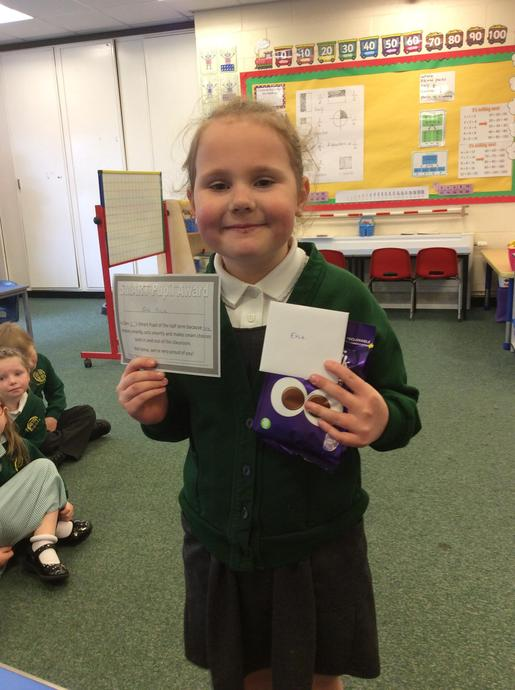Evie is Class 3's Smart Pupil for the Spring Term. Well done, Evie!