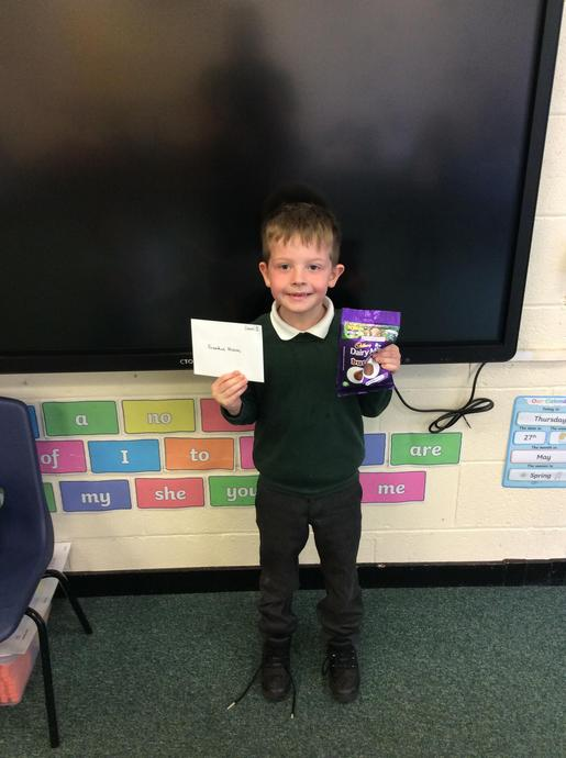 Frankie is Class 3's Smart Pupil for this half term. Well done, Frankie!