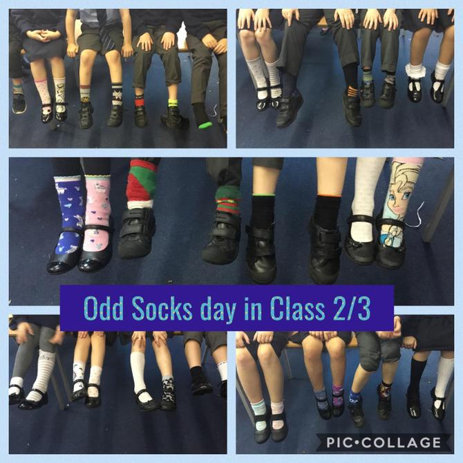 We watched Andy and the Odd Socks.