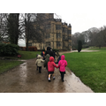 Arriving at Gawthorpe Hall in the rain!