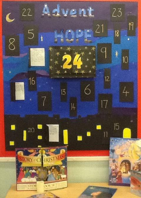 Class 4 have made a giant Advent calendar.