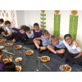 "Sharing ""The Big Iftaar"" meal at the Olive School"