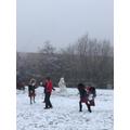 Fun in the snow at St Joseph's