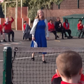 Mrs Hince is a tennis champion
