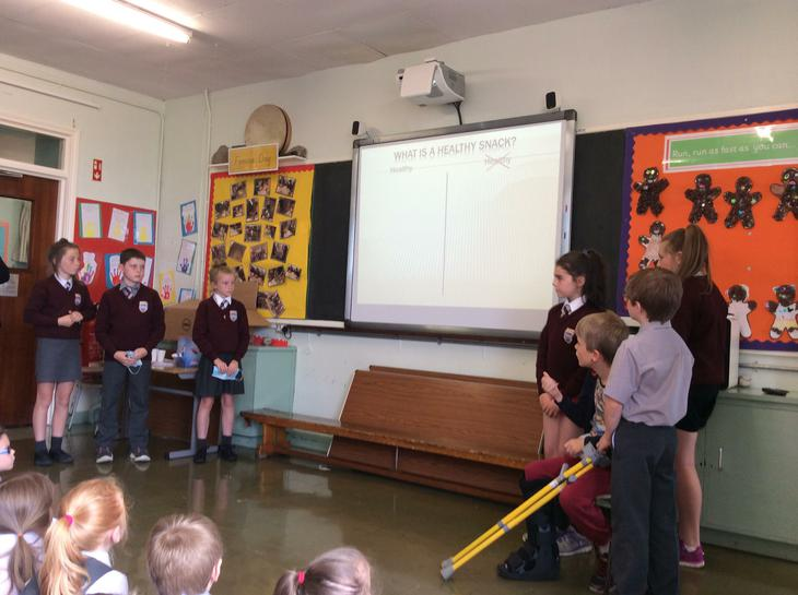 The School Council's Healthy Eating presentation.