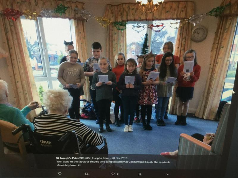 Performing at a local care home this Christmas.